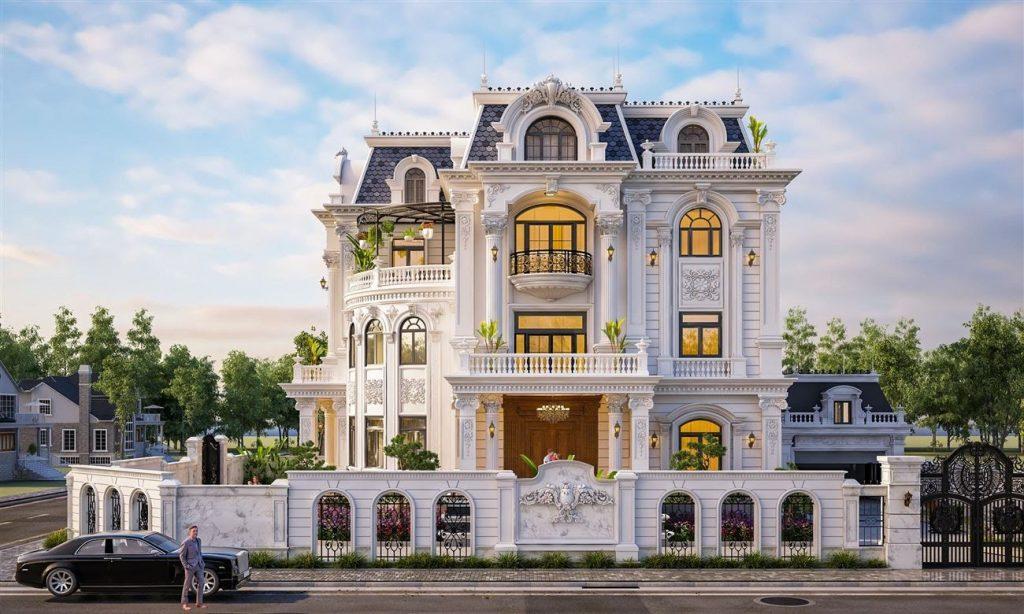 Mẫu biệt thự đẹp kiểu Pháp
