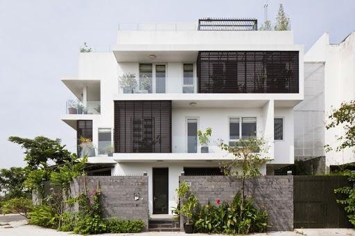 Villa nhà phố 3 tầng đơn giản