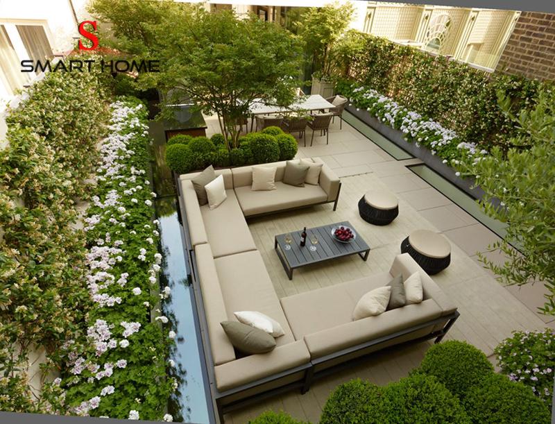 phòng khách sân vườn